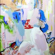 Personnage masqué (3) / 2005 / Acrylique / 73 x 54 cm