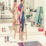 erotic wall art boyart Künstlerin selfpainting nudeart onlineshop pimp your lounge Fotografin - Model und Künstlerin selfportrait