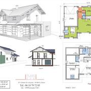 Plans maison contemporaine - Pontcharra