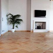 Oberflachenstruktur: Avana Deluxe, Farbe: Honig, Kantenbearbeitung: gerundet, Quadrat:30x30 cm