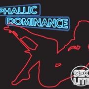 "Phallic Dominance  26""x21.5""x1.5"" backlit sign 2011"
