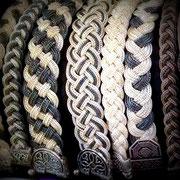 Flechtwerk aus Silberbändern Armband. i-must-have.it