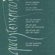 quantensprünge - Ziehfeder und kursive Antiqua