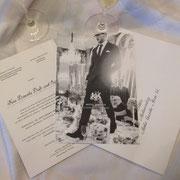 Einladungsbeschriftung und Kuverts für das Hotel Imperial