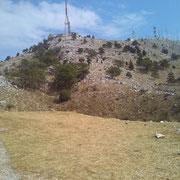 Gipfel des Pantokrators (höchster Berg Korfus mit über 900 m)