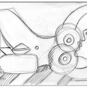 Picasso Style Erotic Art/ Bleistiftzeichnung