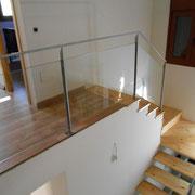 Barandilla hierro y vidrio laminar