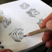 Zeichentisch, Entwürfe...