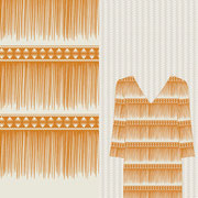 Sawgrass Fringe Stripe mustard Mock up garment