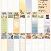 Florida Prints list pads