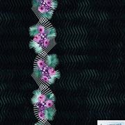Bismarck Palm Orchids: orchid border print