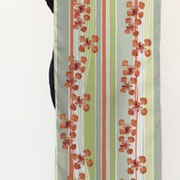 Royal Poinciana Stripe Petals Scroll Brush Long Scarf