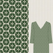 Alligator Medallion forest green Mock up garment
