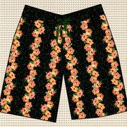 Hibiscus Tiles boys board shorts