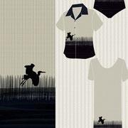 Single Border Sawgrass Bird Mock up garments