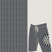 55 Shear pattern gray with Bluegill Medallion applique