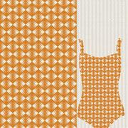 Seminole Motif Pattern mustard Mock up garment