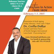 Creflo Dollar presentation & book signing  at the Christians in Action Trade Show Tampa 2013