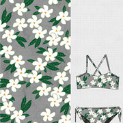 Wicker Basket: all over floral in bikini