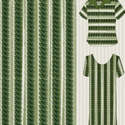 Brush Leaves Ric Rac green Mock up garment