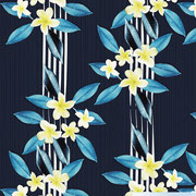 Frangipani all over stripe navy