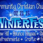 Winterfest graphics for Community Christian Church