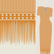 Sawgrass Single Fringe Border mustard Mock up garment