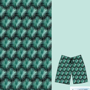 Bismarck Palm Orchids: son boardshorts in allover palm print