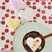 和菓子にアイシング・バレンタイン
