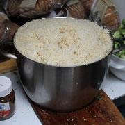 Reiskochen für 40 Personen