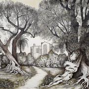 Jardin Renoir à Cagnes-sur-mer 70 x 55 cm