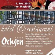 Magic Dinner Show mit 3 - 5 Gänge Menue in Ihrer Wunschlocation  in Heilbronn, Karlsruhe, Pforzheim,