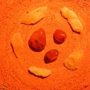 2. Chakra: Carneol + Orangecalcit