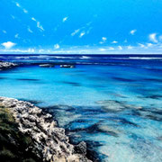 A Sparkling Bay - Rottnest | 1600x800mm | Acrylics on Canvas