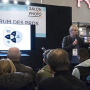 Eric Delamarre sur le forum des pros. Photo © Charlie Abad