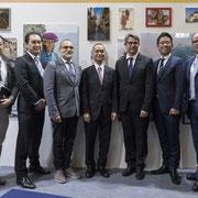 Inauguration jeudi 7 novembre de l'Expo PrintLife, en présence de M. Masato Yamamoto, Président et Directeur Général de FUJIFILM Europe GmbH et de M. Masaharu Fukumoto, Président de FUJIFILM France. Photo © Charlie Abad