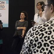 Lea Torrieri, Annie Gozard et Marine Poron sur le forum des pros. Photo © Charlie Abad