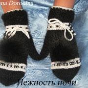 """Варежки """"Нежность ночи"""". Цена 1500 руб."""