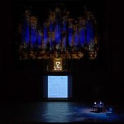 藝大プロジェクト「オルガンが奏でる愛と告別の調べ 」(2019) 演出 ©︎東京藝術大学