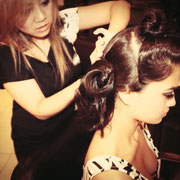 Hair and makeup behind the scene with our beautiful Shanina!