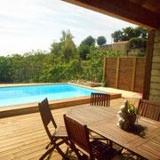 piscine gite dans l'Aude pays cathare gites de france à Véraza avec piscine