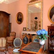 salon gite pays cathare Clevacances à Plaigne Château la Commanderie dans l'Aude