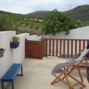 vue sur les vignes gite Pays Cathare Gites de France dans l'Aude à Cascastel en corbières