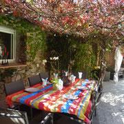 salon de jardin Gite Pays cathare gites de france dans l'Aude à Quintillan
