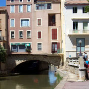 pont des marchands du Canal à Narbonne