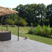 jardin gite pays cathare à Saint Denis dans l'Aude labélisé Gites de France