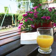 détente au  jardin gite dans l'Aude label pays cathare gites de france à Quintillan