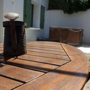 terrasse gite Pays Cathare Gites de France dans l'Aude à Cascastel en corbières