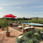 piscine gite Pays Cathare Gites de France dans l'Aude à castelnaudary