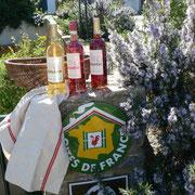 vin du domaine du gite Pays Cathare Gites de France dans l'Aude à Cascastel en corbières